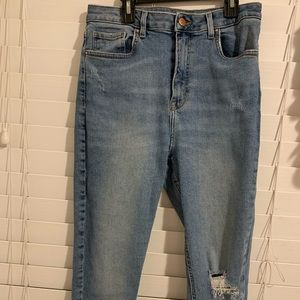 Forever21 boyfriend high rise jeans